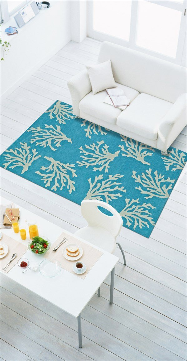 Sky, Ivory Beach / Nautical Area Rug