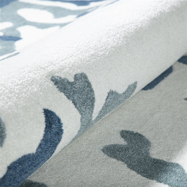 Ivory, Baltic, Steel Blue Beach / Nautical Area Rug