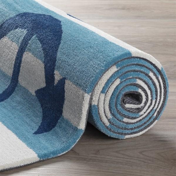 Blue, Linen Beach / Nautical Area Rug
