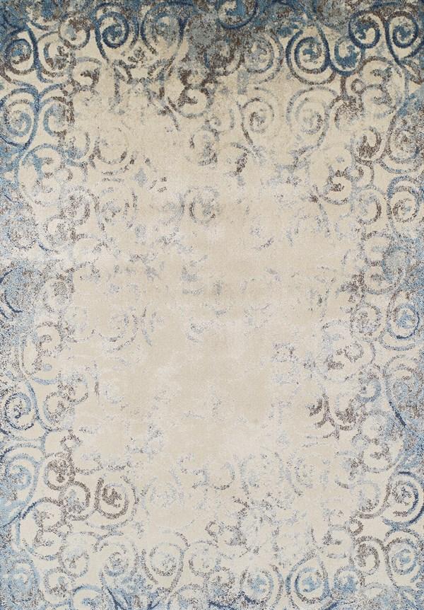 Linen, Teal, Sky Vintage / Overdyed Area Rug