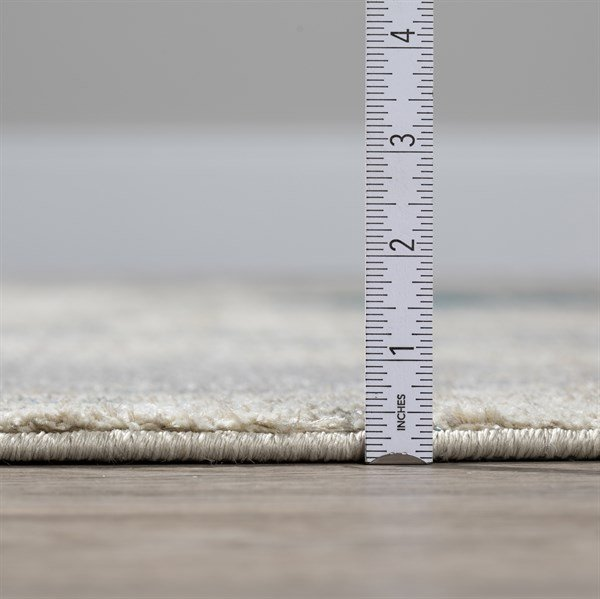 Linen, Blue, Taupe Transitional Area Rug