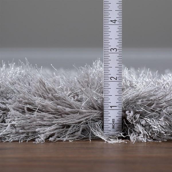 Silver Shag Area Rug