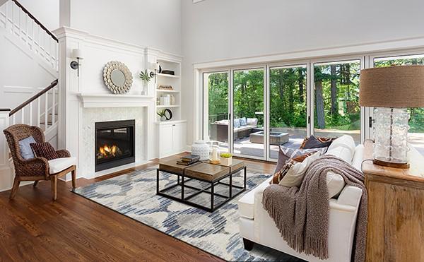 Linen Contemporary / Modern Area Rug