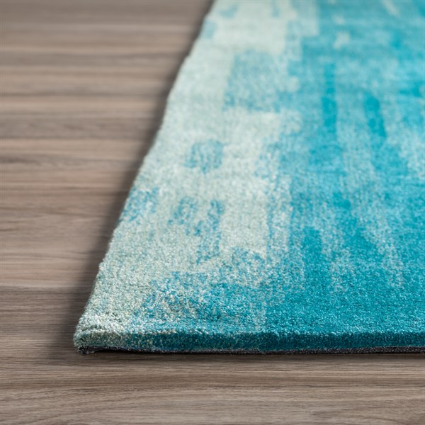 Aqua Contemporary / Modern Area Rug