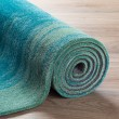 Product Image of Aqua Contemporary / Modern Area Rug