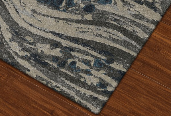 Pewter Contemporary / Modern Area Rug