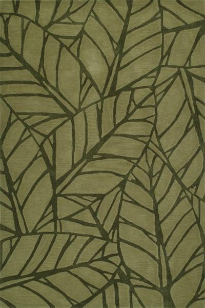 Fern Floral / Botanical Area Rug