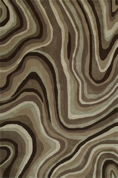 Chocolate Abstract Area Rug