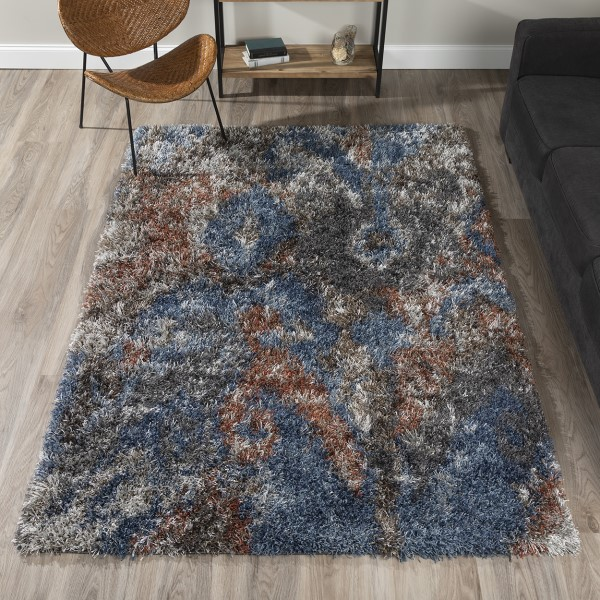 Navy Shag Area Rug