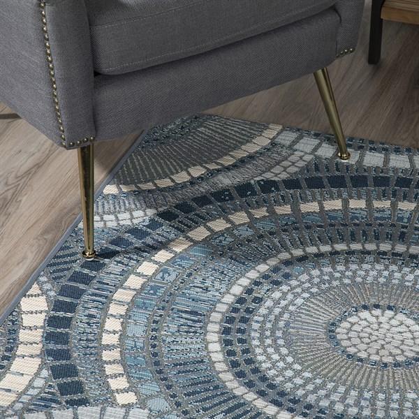 Indigo, Grey, Ivory, Taupe Outdoor / Indoor Area Rug