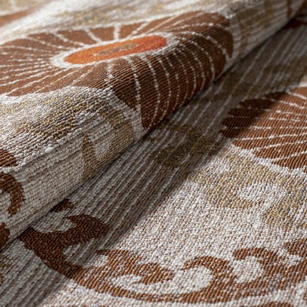 Mocha, Beige, Taupe, Orange Outdoor / Indoor Area Rug