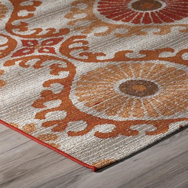 Paprika, Ivory, Burnt Orange, Chocolate Outdoor / Indoor Area Rug