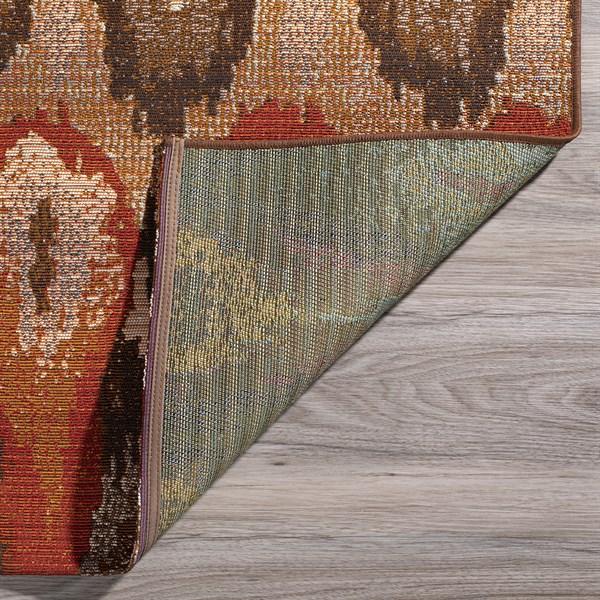 Canyon, Orange, Ivory, Chocolate Outdoor / Indoor Area Rug