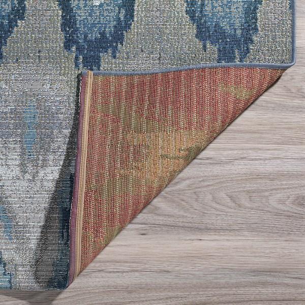 Indigo, Grey, Silver, Taupe Outdoor / Indoor Area Rug