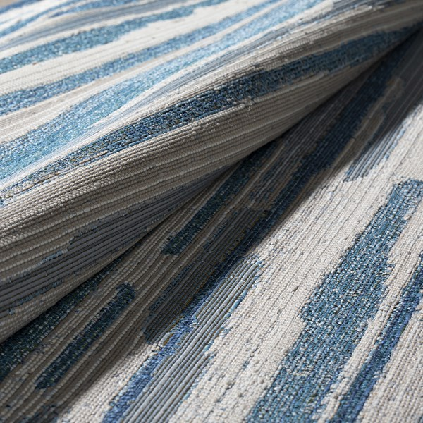 Indigo, Ivory, Taupe, Medium Blue, Teal Outdoor / Indoor Area Rug