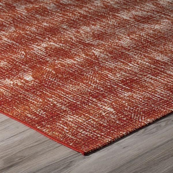 Paprika, Ivory, Orange Outdoor / Indoor Area Rug