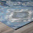 Product Image of Indigo, Grey, Blue, Ivory Outdoor / Indoor Area Rug