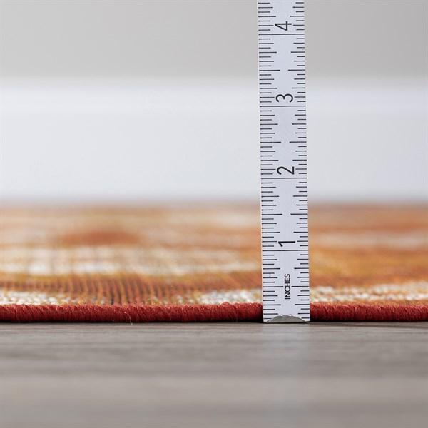 Paprika, Orange, Ivory Outdoor / Indoor Area Rug