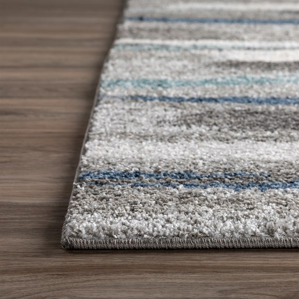 Taupe, Pewter, Teal, Charcoal Shag Area Rug