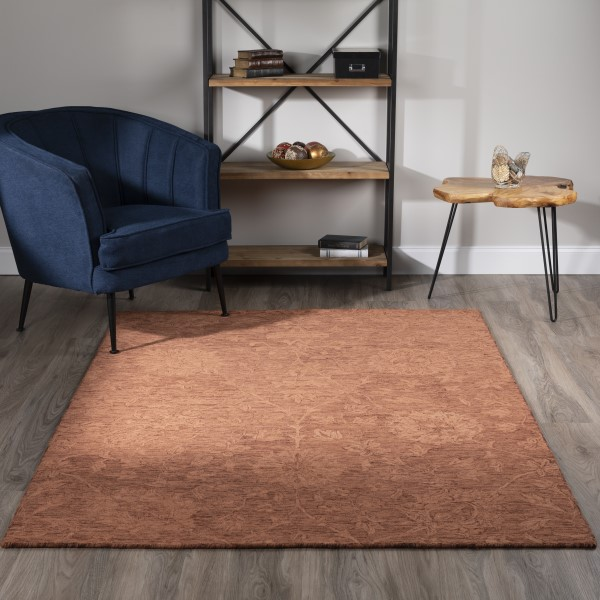 Copper (KB-01) Traditional / Oriental Area Rug