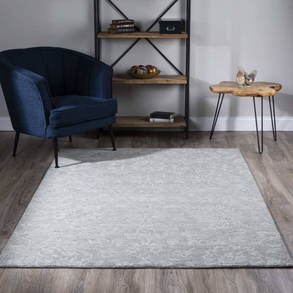 Silver (KB-01) Traditional / Oriental Area Rug