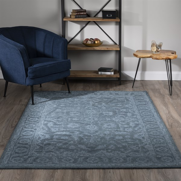 Navy (KB-04) Traditional / Oriental Area Rug