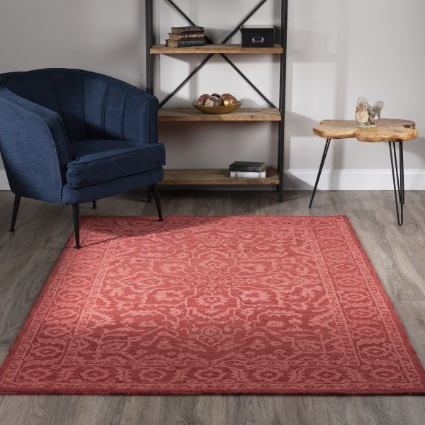 Red (KB-04) Traditional / Oriental Area Rug