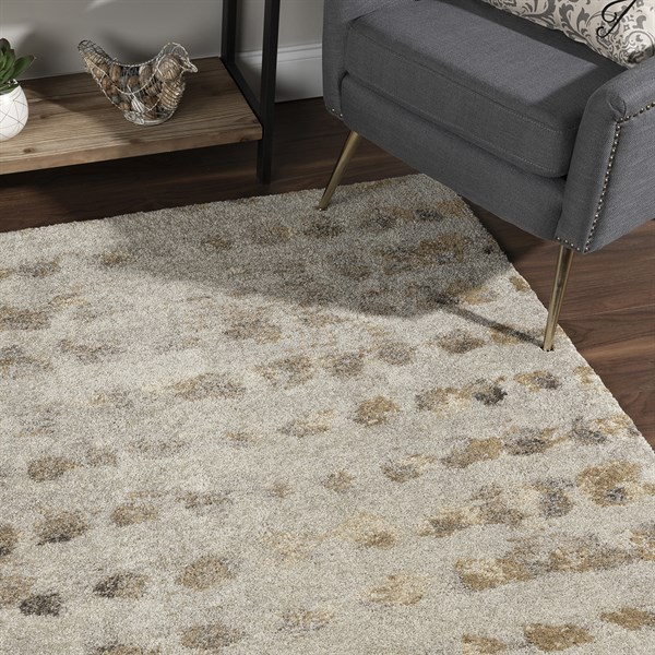Putty Contemporary / Modern Area Rug