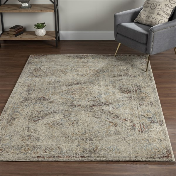 Taupe Vintage / Overdyed Area Rug