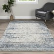 Product Image of Silver, Blue Vintage / Overdyed Area Rug