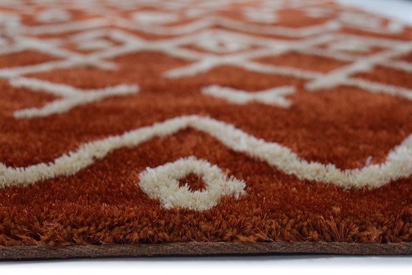 Copper Moroccan Area Rug
