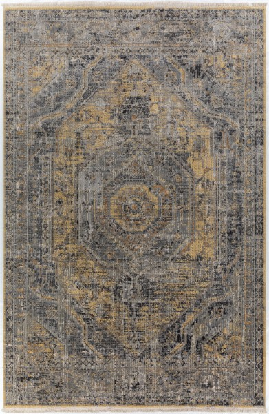 Goldenrod Traditional / Oriental Area Rug