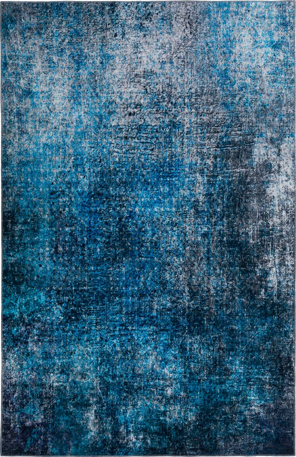 Cobalt Abstract Area Rug