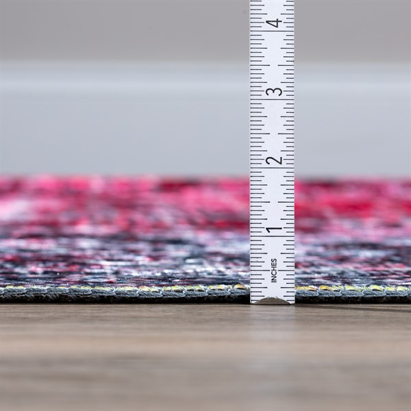 Magenta Abstract Area Rug