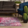 Product Image of Magenta Abstract Area Rug
