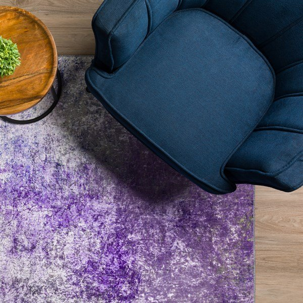 Orchid Abstract Area Rug