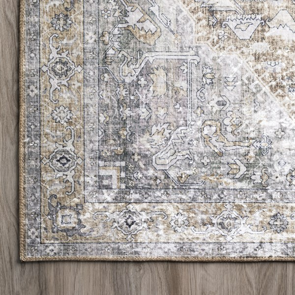 Goldenrod Vintage / Overdyed Area Rug