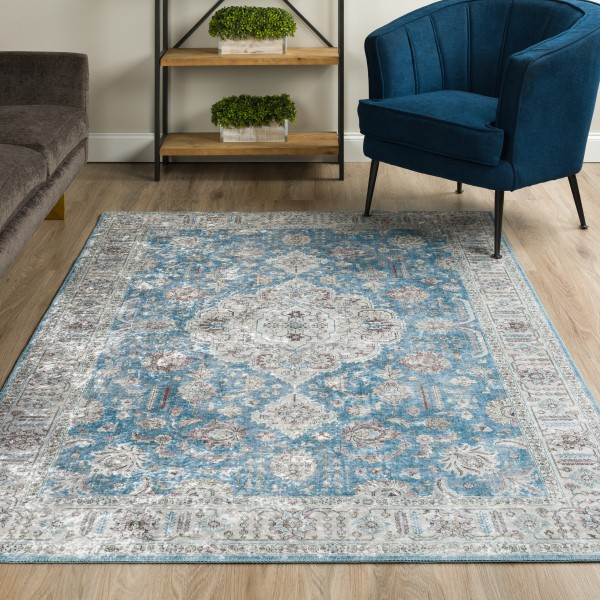 Cameo Blue Vintage / Overdyed Area Rug