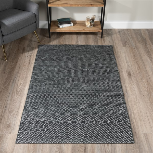 Black Bohemian Area Rug