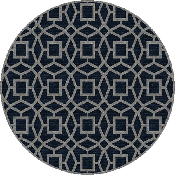 Navy, Light Gray Moroccan Area Rug