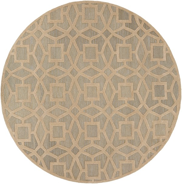Light Gray, Khaki Moroccan Area Rug