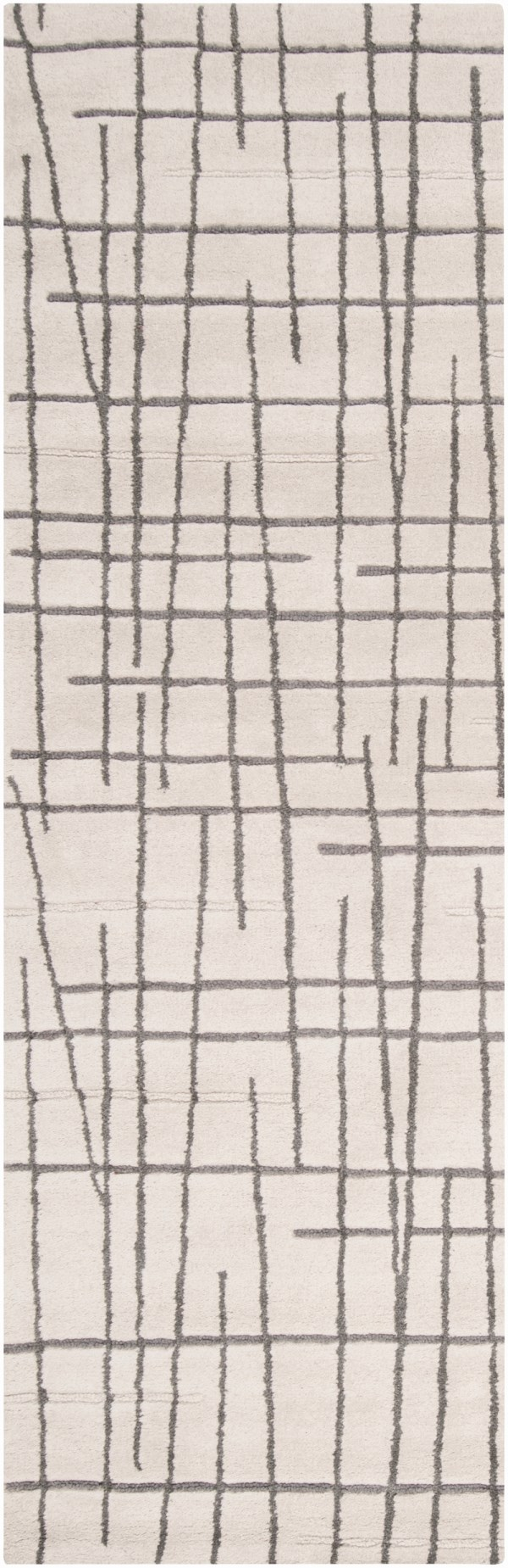 Beige, Medium Grey Transitional Area Rug