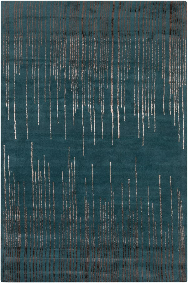 Emerald, Camel, Black Contemporary / Modern Area Rug