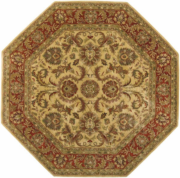 Gold, Red Traditional / Oriental Area Rug