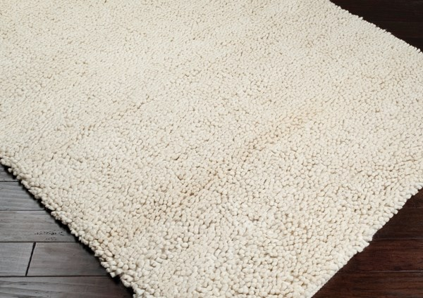 Ivory (2) Solid Area Rug