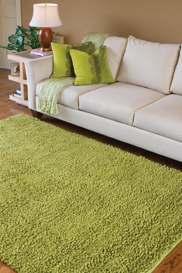 Lime Green (6) Solid Area Rug