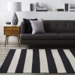 Product Image of Black, White Striped Area Rug