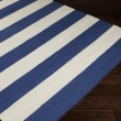 Product Image of Dark Blue, White Striped Area Rug