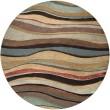 Product Image of Mushroom, Blue, Tan  Contemporary / Modern Area Rug