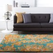 Product Image of Teal, Camel, Dark Brown, Dark Red Traditional / Oriental Area Rug